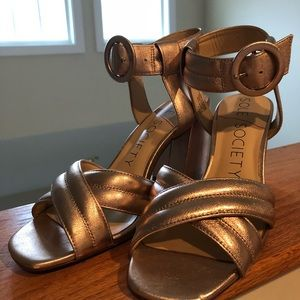 Sole Society Shoes - Sole Society Rose Gold Sandals